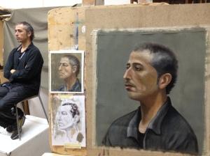 Classic portrait painting