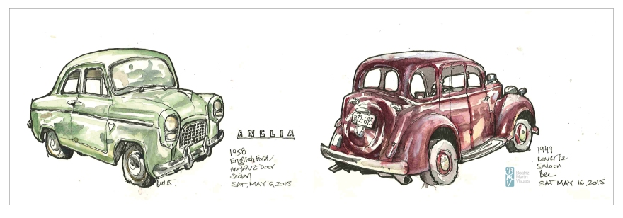 Vancouver All British Field Meet (ABFM) (Markers and watercolour)