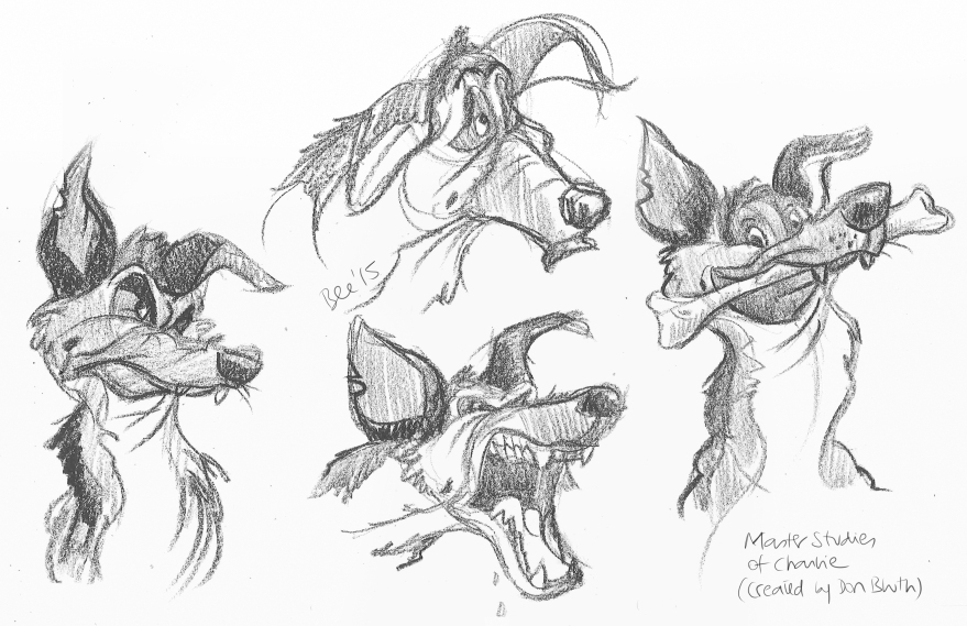 Studies of Charlie after Don Bluth (Peel-off China marker)