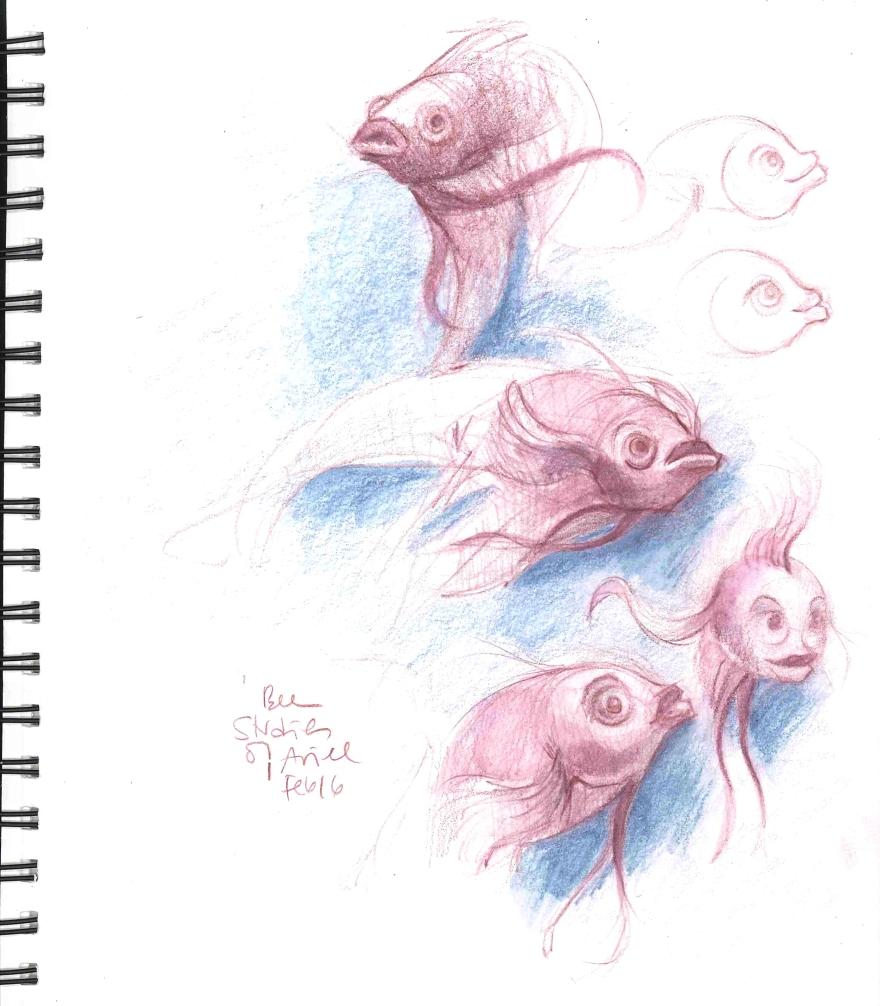 Ariel (Color pencil and watercolor pencil)