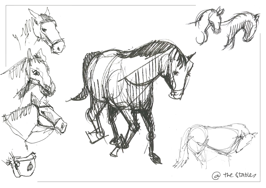Sketching at the stables (Markers)