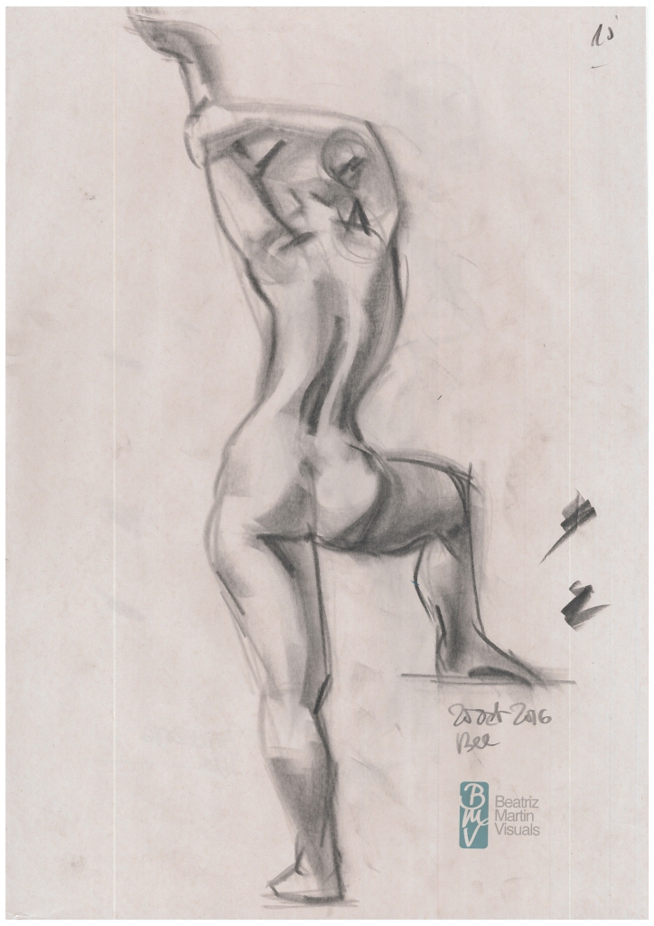 Life drawing studies - 10 minutes (Conté)