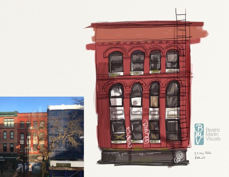 Digital urban sketch (ArtRage©)
