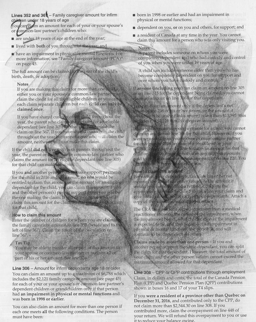 Life drawing studies (Peel-off China marker)